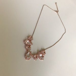 Jewelry - 3/$20 Rose gold silver rhinestone detail necklace